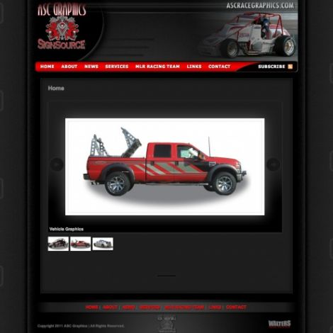 ASC Graphics - Walters Web Design ( 2012 Website Designs )