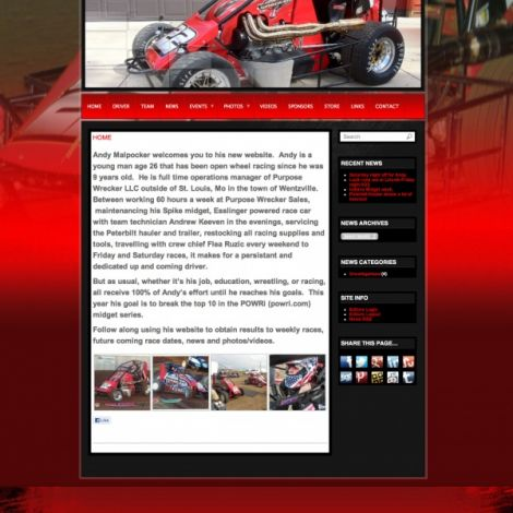 Andy Malpocker - Walters Web Design ( 2012 Website Designs )