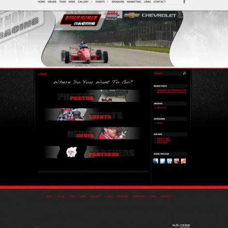Brian Novak Racing - Walters Web Design ( 2012 Website Designs )