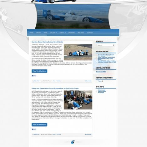Camden Geise Racing - Walters Web Design ( 2012 Website Designs )