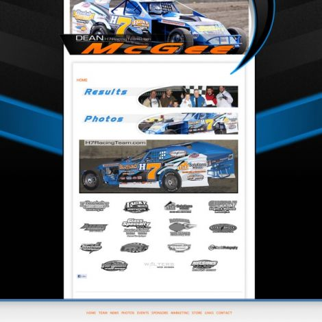 H7 Racing Team Dean McGee - Walters Web Design ( 2012 Website Designs )