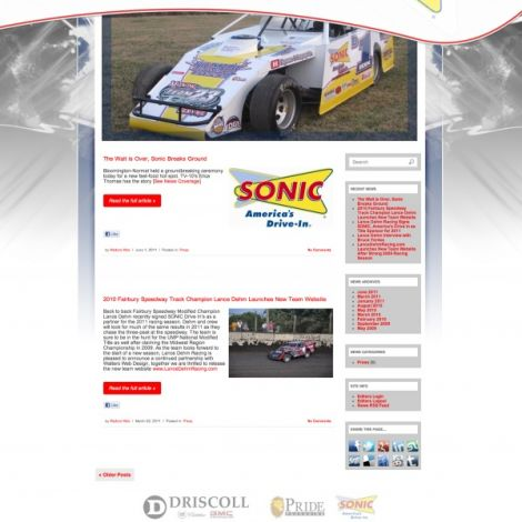Lance Dehm Racing - Walters Web Design ( 2012 Website Designs )