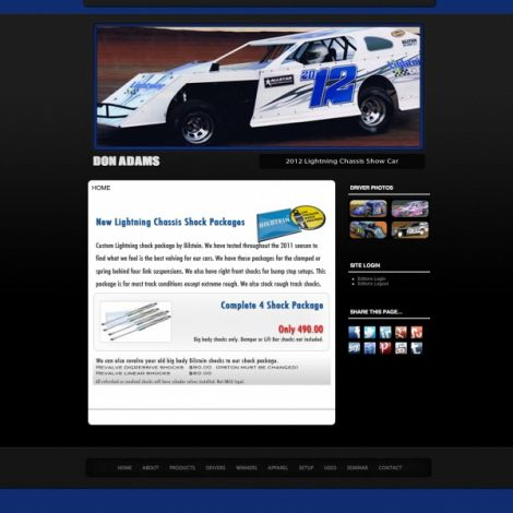 Lightning Chassis - Walters Web Design ( 2012 Website Designs )