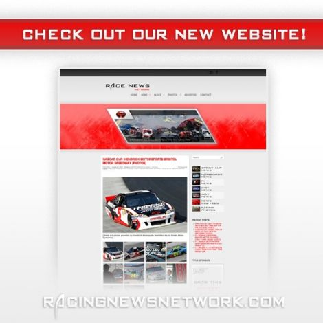 2012 Racing News Network Website Launch ( Graphic Design Portfolio )
