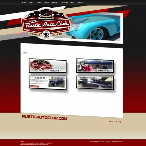 Rustic Auto Club - Walters Web Design ( 2012 Website Designs )