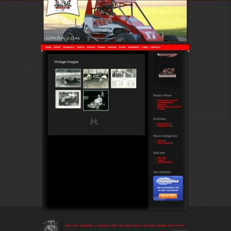 UMRA TQ Midget Series - Walters Web Design ( 2012 Website Designs )