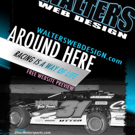 2012 Walters Web Design January Issue of DIRT Late Late Model Magazine ( Advertising Portfolio )