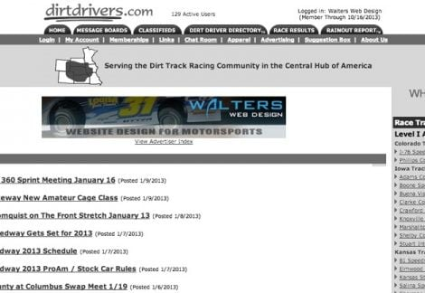 2013 Walters Web Design Advertisement Featured on DirtDrivers ( Advertising Portfolio )