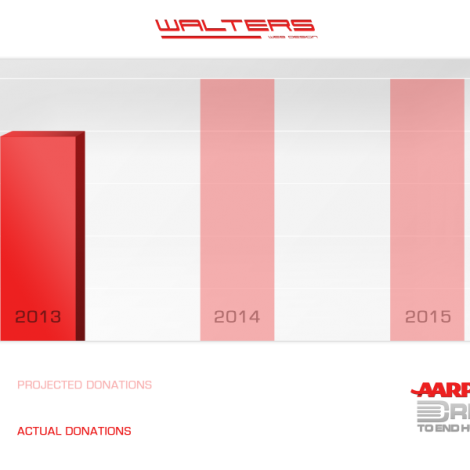 Walters Web Design Donations Graph Red ( Graphic Design Portfolio )