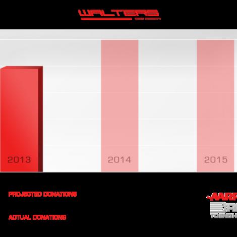 Walters Web Design Donations Graph Red ( Graphic Design Portfolio )