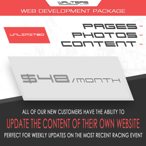 Walters Web Design Racing Website Development Package