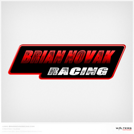 Brian Novak Racing Logo - Walters Web Design ( 2012 Logo Designs )