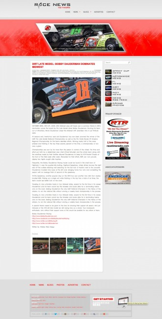 Bobby Dauderman Racing PR In Action ( Press Writer )