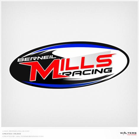 Berneil Mills Racing Logo - Walters Web Design ( 2013 Logo Designs )