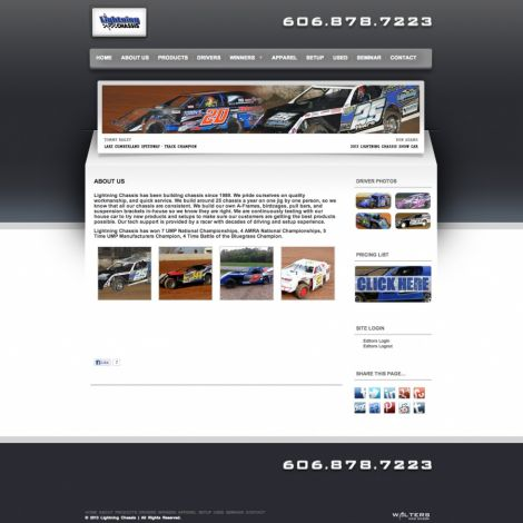 Lightning Chassis - Walters Web Design ( 2013 Website Designs )