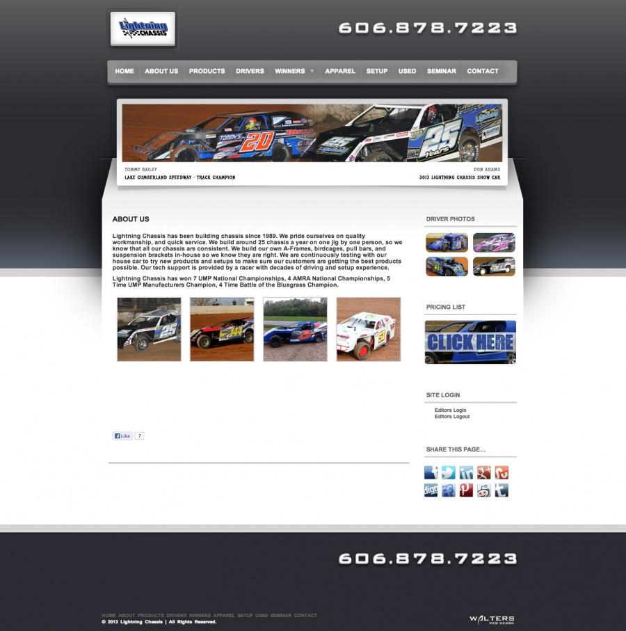 Dirt Modified Race Car Manufacture Lightning Chassis Debuts New Website JUNE 20TH, 2013 (ST. LOUIS, MO)...