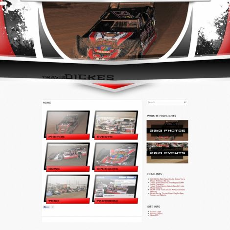 MLRA Travis Dickes Racing - Walters Web Design ( 2013 Website Designs )