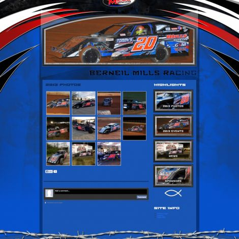 Berneil Mills Racing - Walters Web Design ( 2013 Website Designs )