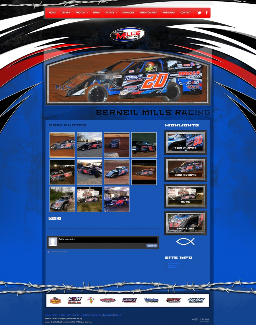 NEW WEBSITE: Berneil Mills Racing New Website Following 201 ...