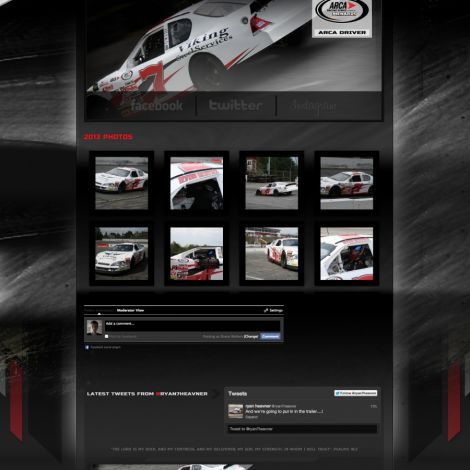 Ryan Heavner Racing - Walters Web Design ( 2013 Website Designs )