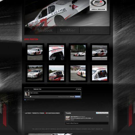 Ryan Heavner Racing - Walters Web Design ( 2013 Website Designs )