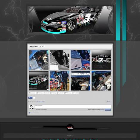 Josh White ARCA Racing Series Driver Website Design - Walters Web Design Small