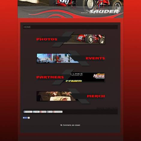 Kyle Sauder Racing Sprint Car Website ( Walters Web Design )