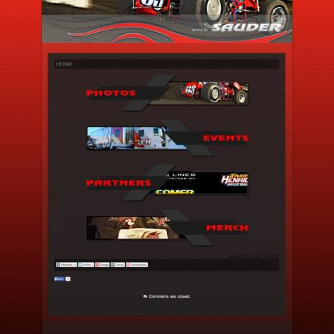 Kyle Sauder Racing Sprint Car Website ( Walters Web Design )