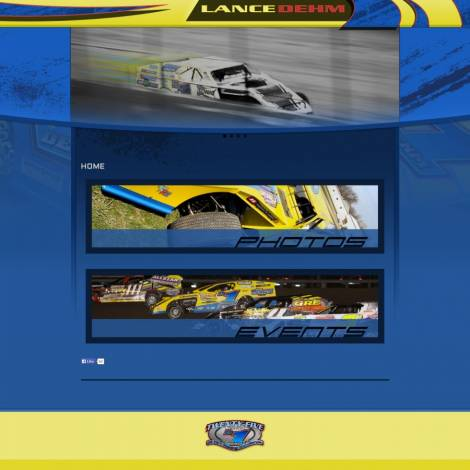 Lance Dehm Racing Dirt Modified Website
