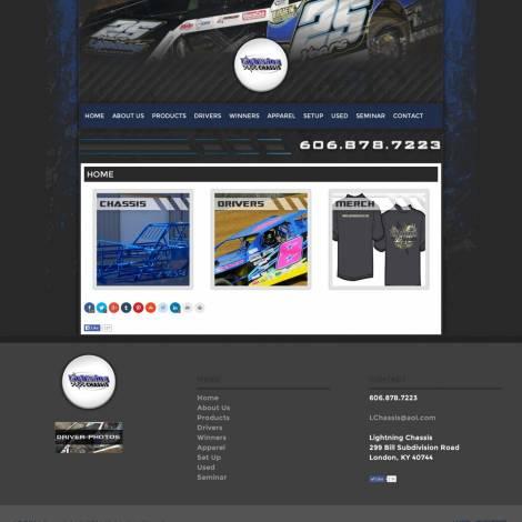 Lightning Chassis Website Design - Walters Web Design