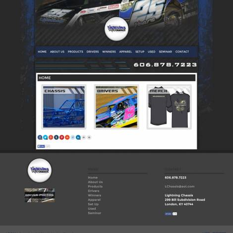 Lightning Chassis Website Design - Walters Web Design