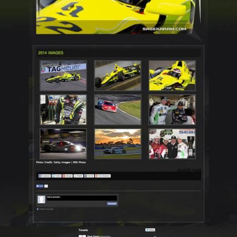 Sage Karam IndyCar Driver Website
