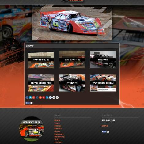 Travis Dickes Lucas Oil MLRA Driver Website Design - Walters Web Design
