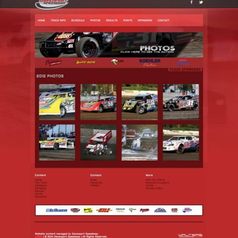 Davenport Speedway Website Design ( Walters Web Design )