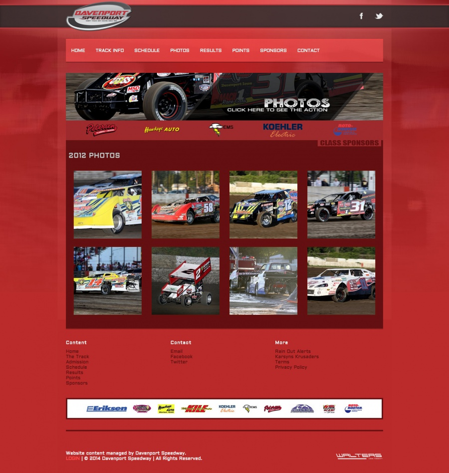 Davenport Speedway Website Design ( Walters Web Design )