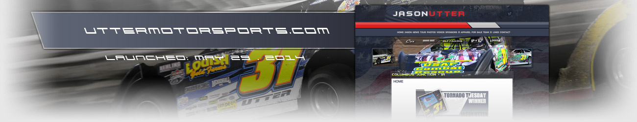 Walters Web Design Utter Motorsports Dirt Late Model Driver Website