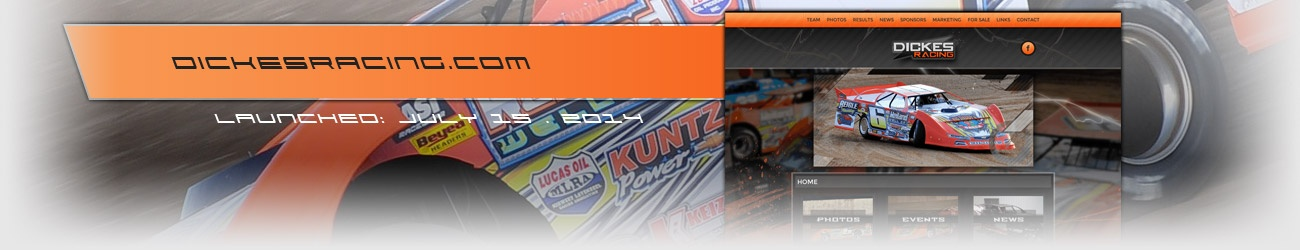 Walters Web Design Dickes Racing Lucas Oil MLRA Driver Website