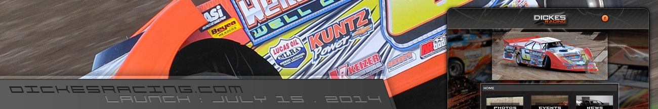 Dickes Racing Dirt Late Model Website Walters Web Design
