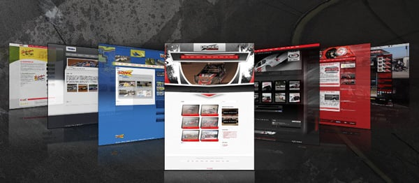 Walters Web Design Portfolio Racing Driver Websites