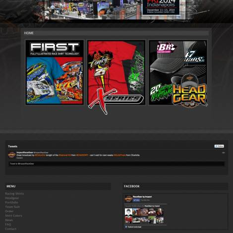 Impact Race Gear Website Design - Walters Web Design