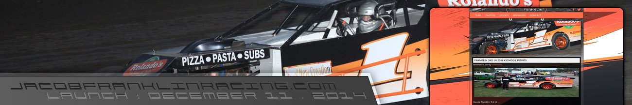 Jacob Franklin UMP KidModz Racing Series Driver Website Links Walters Web Design