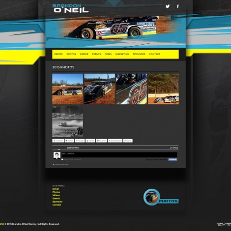 2015 Brandon ONeil Racing Dirt Late Model - Walters Web Design