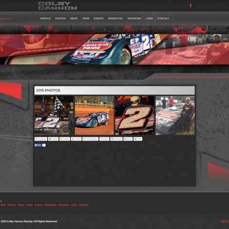 2015 Colby Cannon Racing - Walters Web Design
