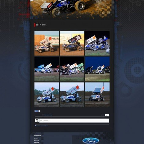 2015 Lawson Racing Sprint Car Website Design - Walters Web Design
