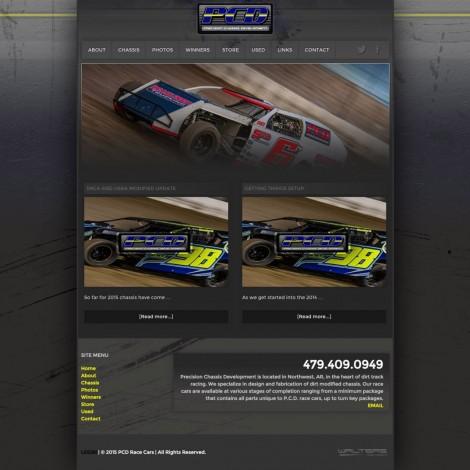 2015 PCD Race Cars Website - Walters Web Design