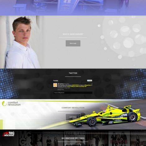 2015 Sage Karam Indycar Driver Website - Walters Web Design