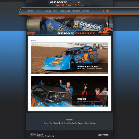 2016 Kenny Christy Racing Late Model Website