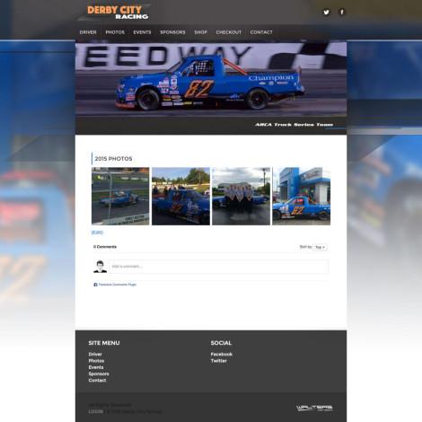Derby City Racing ARCA Truck Series Driver Website - Walters Web Design