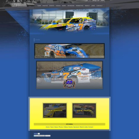 H7 Racing Team - Dirt Modified Racing Website Design