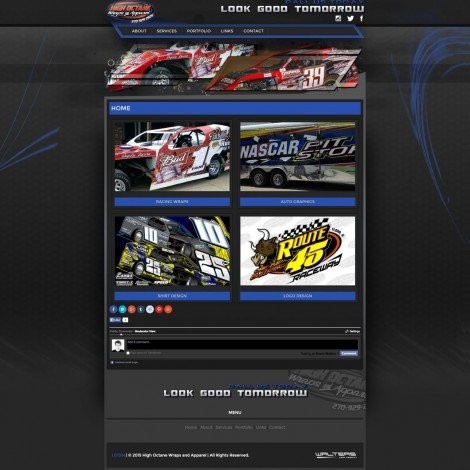 High Octane Racing Graphics Website Design - Walters Web Design